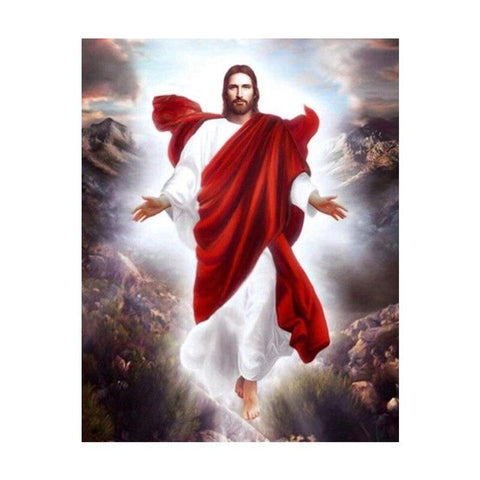 Image of 5D Diamond Painting Jesus has Arrived **Round Drills Only**