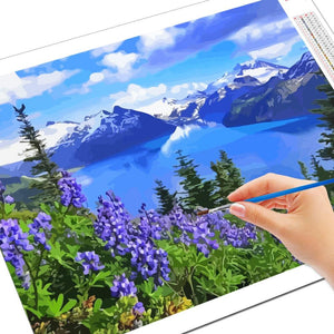 Paint by Numbers Mountain Landscape