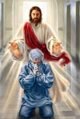 "Image of 5D Diamond Painting ""Jesus Help!"" **round drills only**"