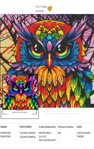 5D Diamond Painting Colorful Animals **Round Drills Only**