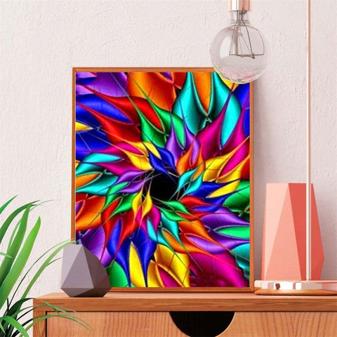 5D Diamond Painting Rainbow Flower