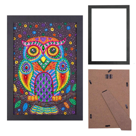 5D Diamond Painting Sparkling Owl Partial Drill 20x 30cm