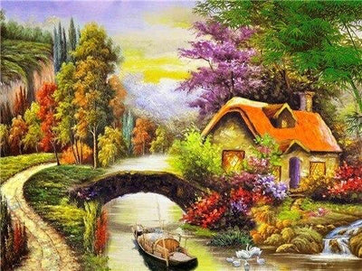 Paint by Number Country Landscape