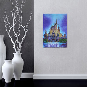 5D Diamond Painting Partial Drill Sparkling Beautiful Castle Round Drill 30*40cm