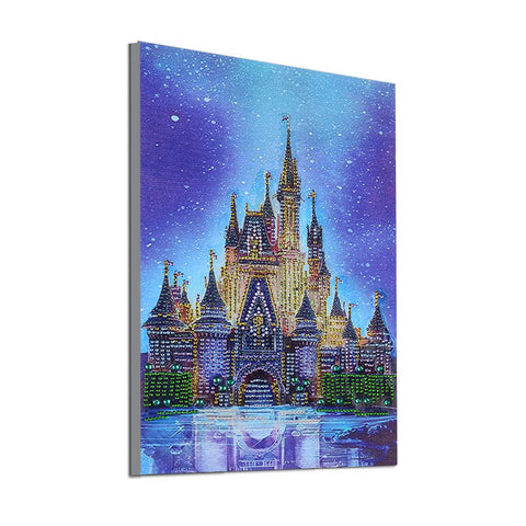 Image of 5D Diamond Painting Partial Drill Sparkling Beautiful Castle Round Drill 30*40cm