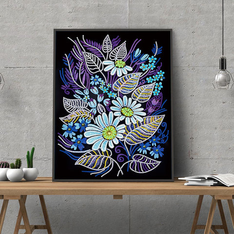 5D Diamond Painting Partial Drill Sparkling LED Flower