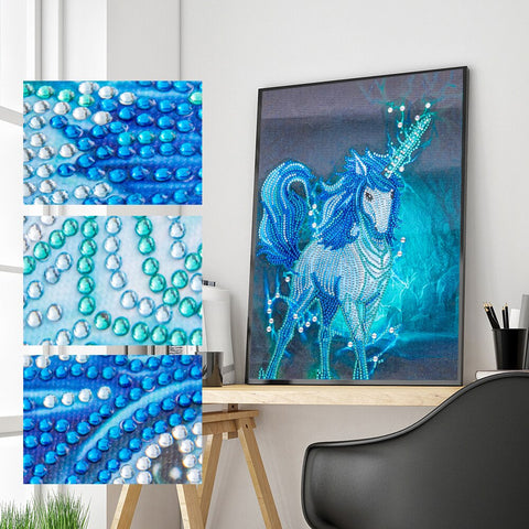 5D Diamond Painting Partial Drill Sparkling Unicorn