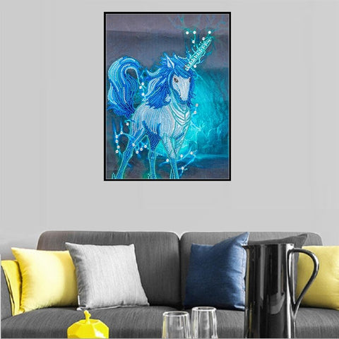 Image of 5D Diamond Painting Partial Drill Sparkling Unicorn