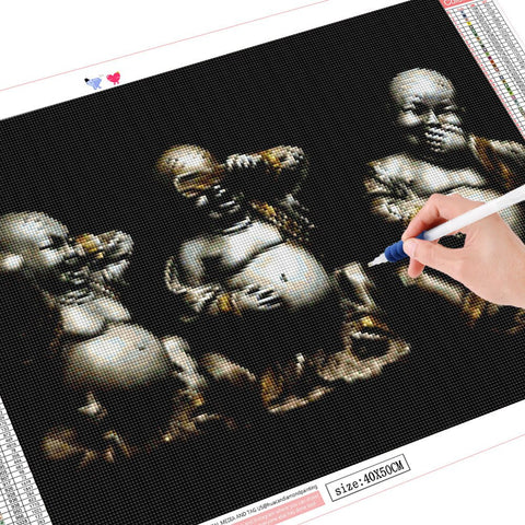 "Image of 5D Diamond Painting ""Hear See Speak No Evil"""
