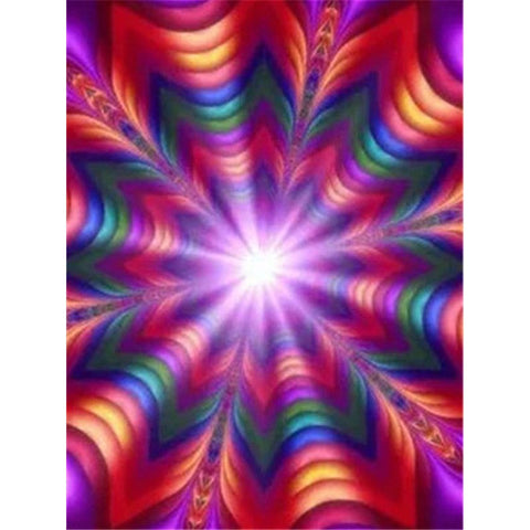 5D Diamond Painting Rainbow Star Abstract ** Round Drills Only**