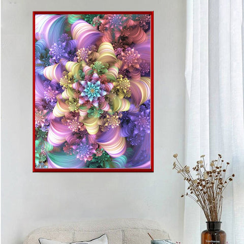 5D Diamond Painting Star of Swirls Abstract ** Round Drills Only**