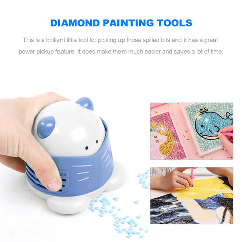5D Diamond Painting Tool Drill Quick Picker Mini Vacuum