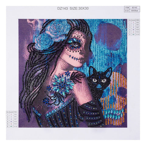 Image of 5D Diamond Painting Partial Drill Sugar Skull