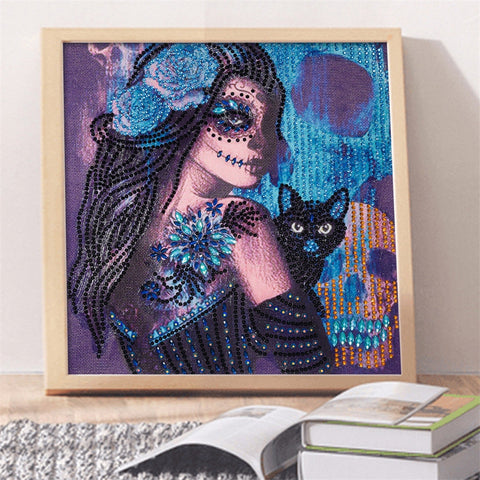 5D Diamond Painting Partial Drill Sugar Skull
