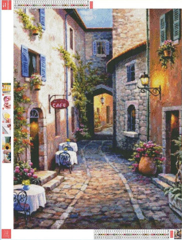 5D Diamond Painting Italian Cafe