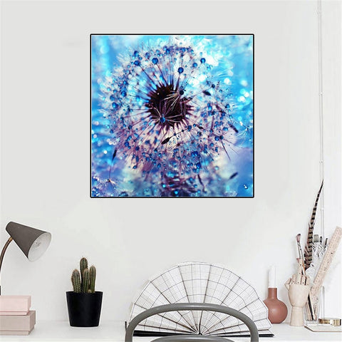 5D Diamond Painting Beautiful Blue Dandelion