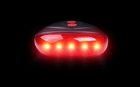 Image of LED Bicycle  5 LED+ 2 Laser Tail Lights