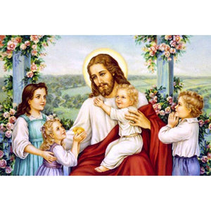 5D Diamond Painting Jesus and Children