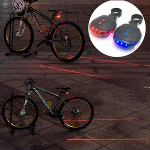 LED Bicycle  5 LED+ 2 Laser Tail Lights