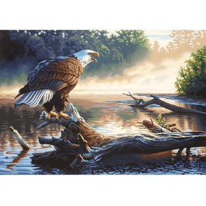 5D Diamond Painting Perched Eagle