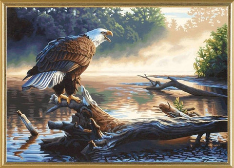 Image of 5D Diamond Painting Perched Eagle