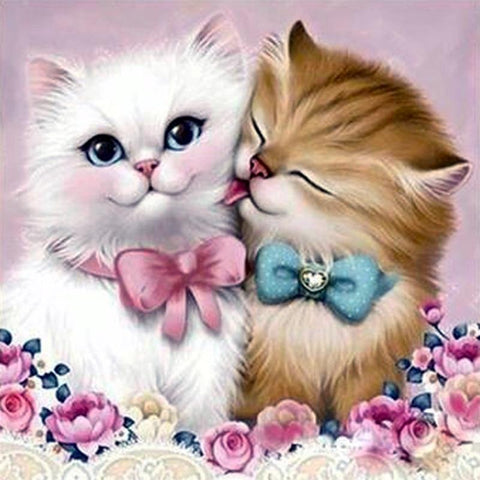 Image of 5D Diamond Painting Cat Couple