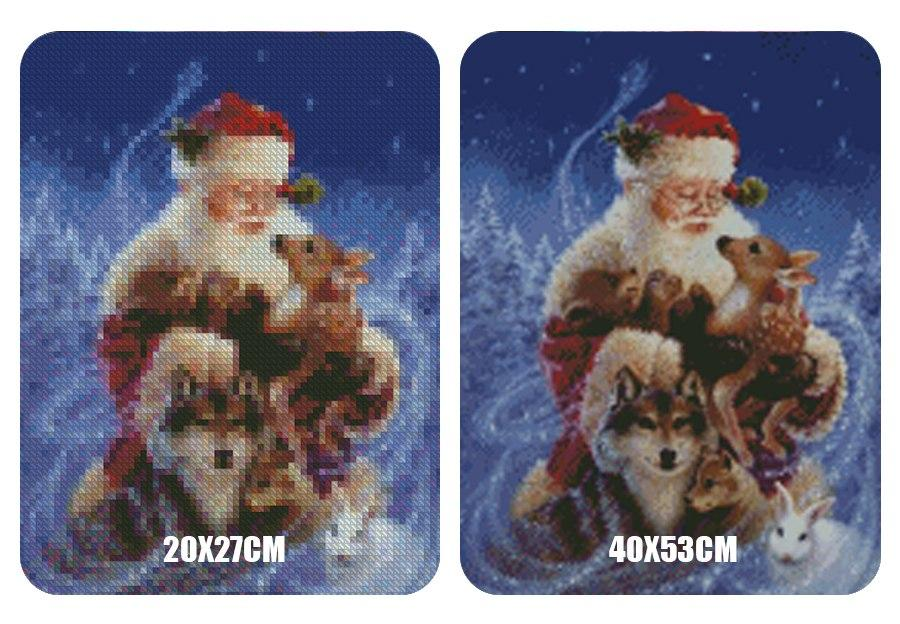 5D Diamond Painting Santa Claus and the Animals
