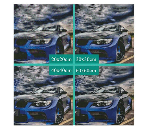 Image of 5D Diamond Painting Sports Car