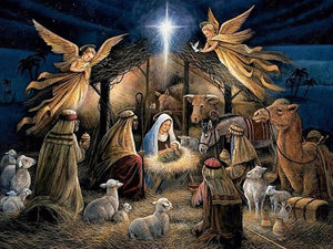 5D Diamond Painting Nativity Scene