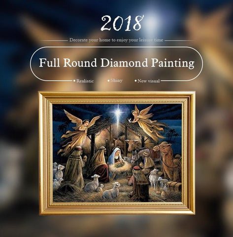 Image of 5D Diamond Painting Nativity Scene