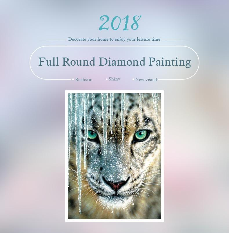 5D Diamond Painting Ice Leopard