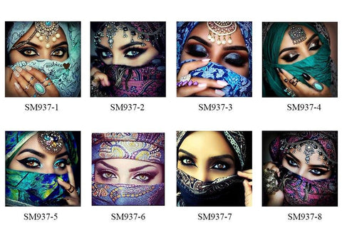 Image of 5D Diamond Painting Mask Girl