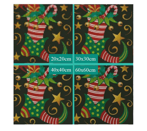 Image of 5D Diamond Painting Christmas Stocking