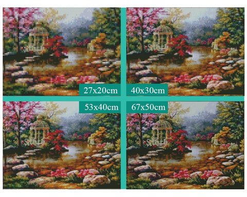 Image of 5D Diamond Painting Landscape Pavilion