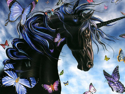 5D Diamond Painting Unicorn and Butterfly