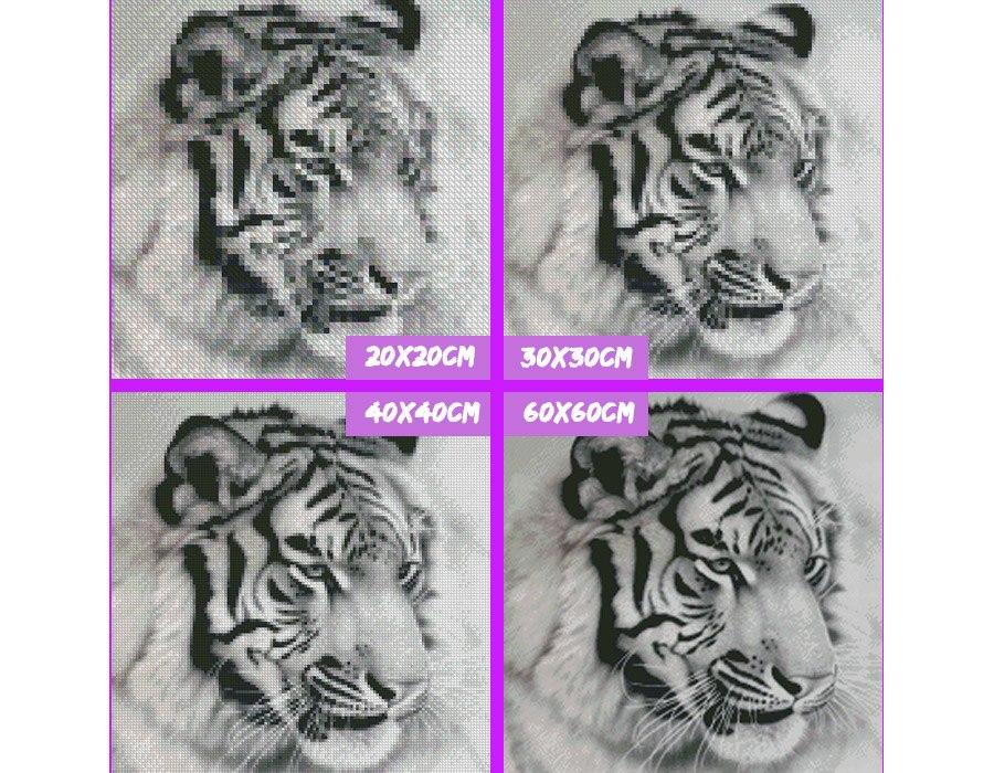 5D Diamond Painting Siberian Tiger