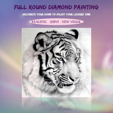Image of 5D Diamond Painting Siberian Tiger