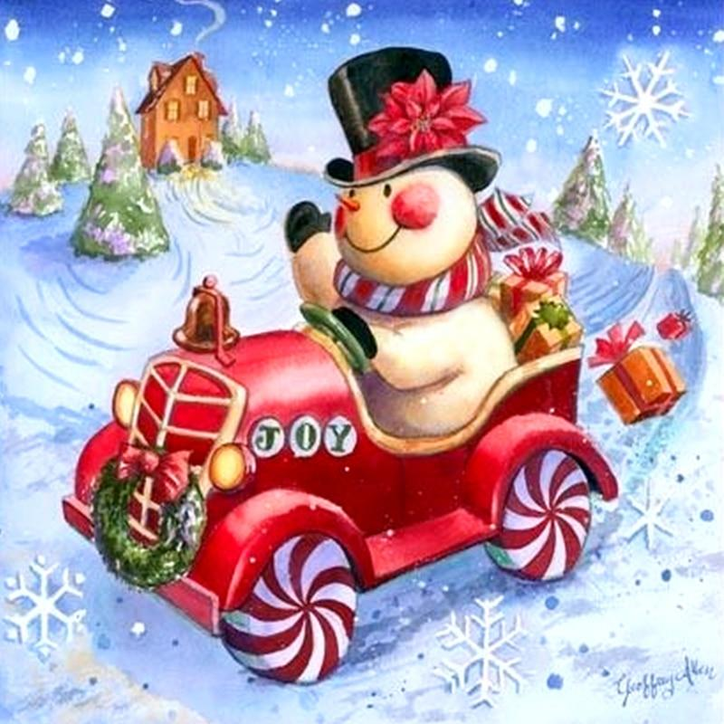 5D Diamond Painting Christmas Snowman