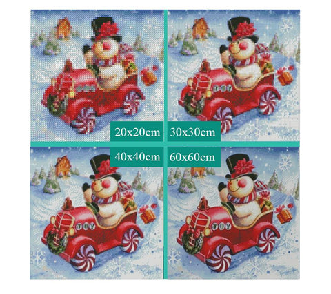 Image of 5D Diamond Painting Christmas Snowman