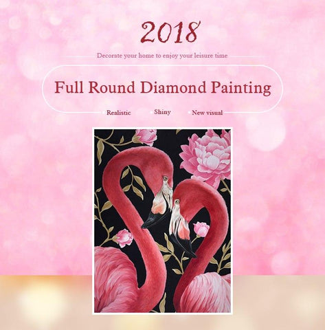 Image of 5D Diamond Painting Flamingo Couple