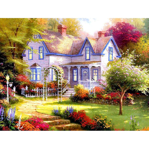 Image of 5D Diamond Painting Garden house