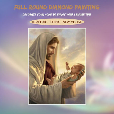 5D Diamond Painting Sage and Baby