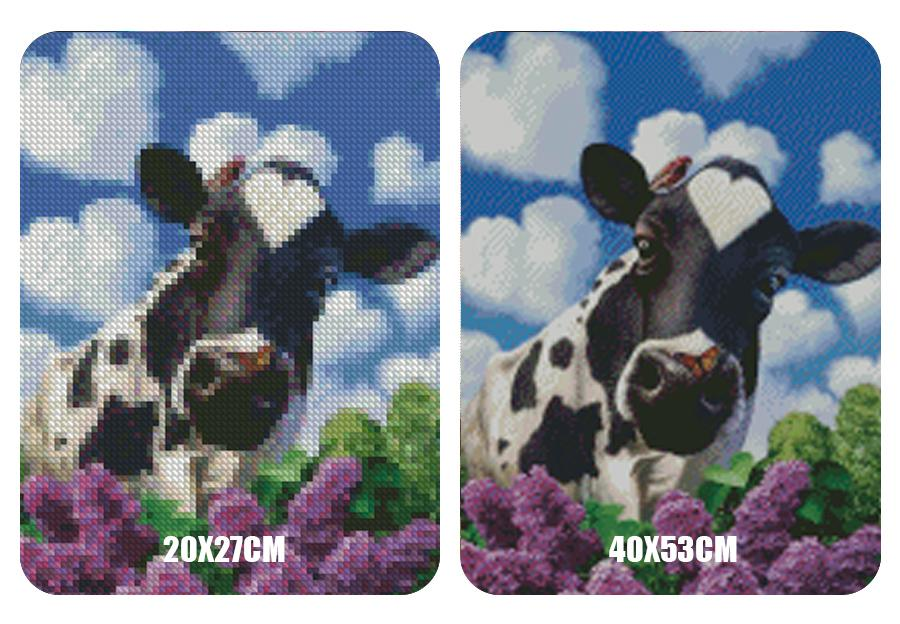 5D Diamond Painting Meadow Cow