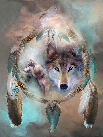 Image of 5D Diamond Painting Wolf Fantasy