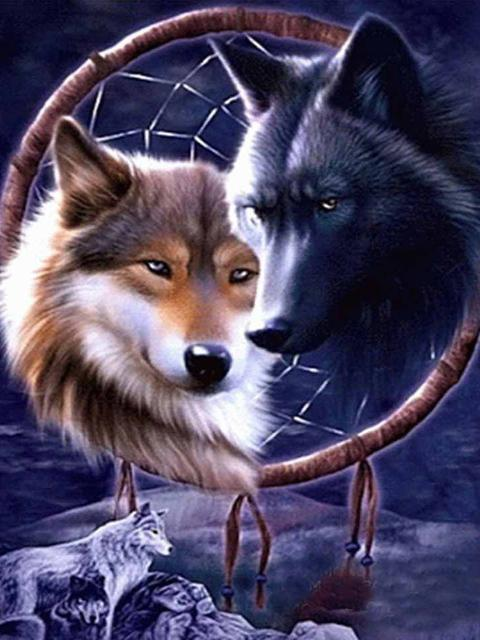 5D Diamond Painting Wolf Fantasy