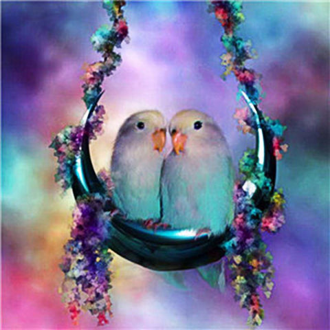 Image of 5D Diamond Painting Pigeon Couple