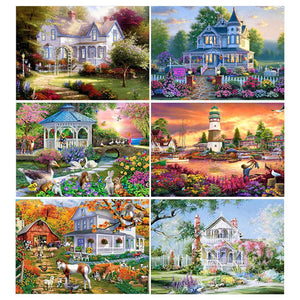 5D Diamond Painting Victorian Homes