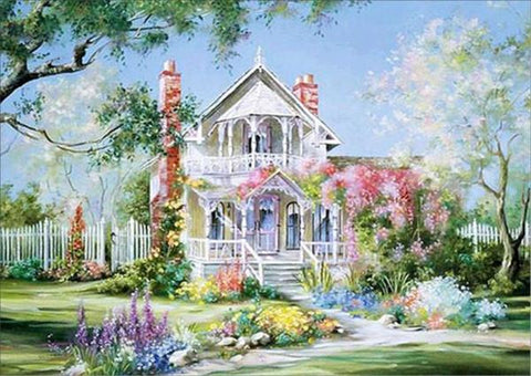 Image of 5D Diamond Painting Victorian Homes