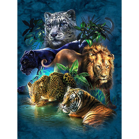 5D Diamond Painting Wild Animals