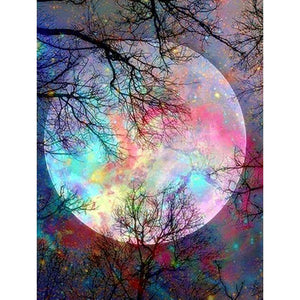 5D Diamond Painting Forest Moonlight